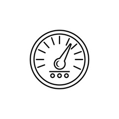 speedometer icon. Element of racing for mobile concept and web apps icon. Thin line icon for website design and development, app development. Premium icon