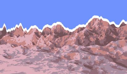 Desert Landscape Isolated