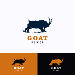 Goat Logo Template Design. Creative Vector Emblem, for Icon or Design Concept.
