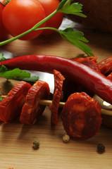 Spicy salami épicé asi piccanti