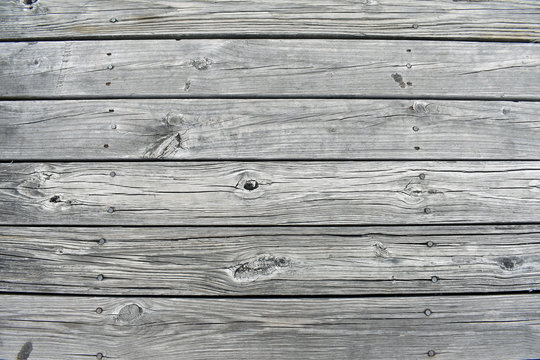 Wood planks of a dock
