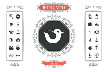 Bird symbol icon