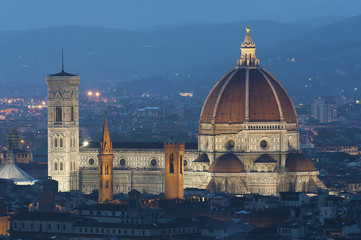 Fotomurales - Basilica of Santa Maria del Fiore (Basilica of Saint Mary of the Flower) in Florence, Tuscany, Italy