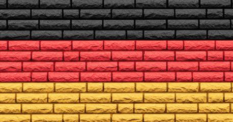 Deutschlandfarben Mauerstruktur