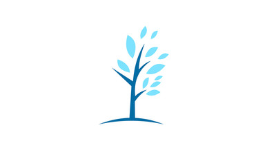 blue healthy tree vector