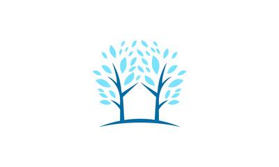 blue healthy tree vector