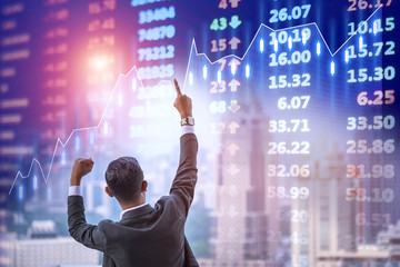 Investor traders have successful at the stock exchange electronic board