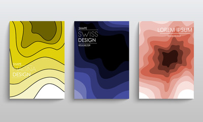 Modern Covers Template Design. Fluid colors. Set of Trendy Holographic Gradient shapes. Vector EPS 10
