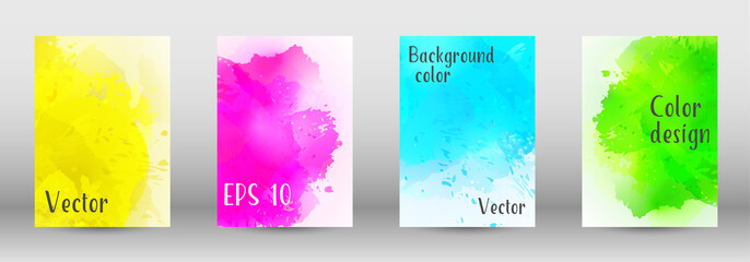 Design cover with a picture of watercolor spray.