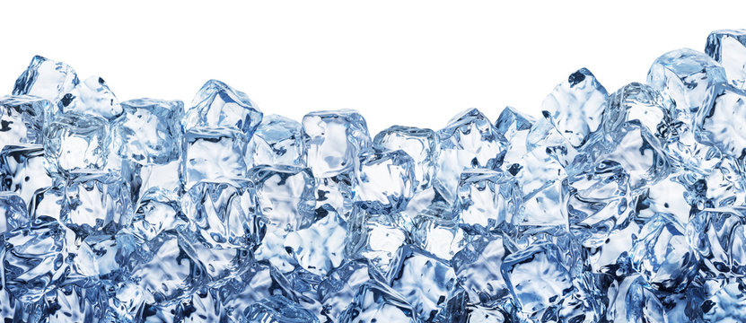 Ice cube background. Clipping path.