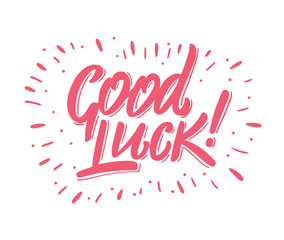 Good luck hand drawn vector lettering.