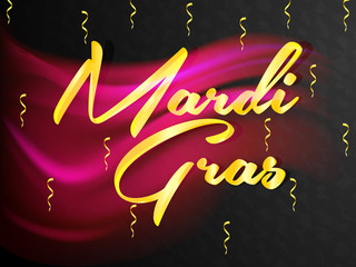 nice and beautiful abstarct or poster for Mardigras with nice and creative deign illustration in a background.