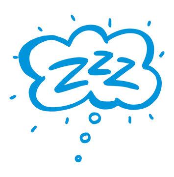 Sleep comic bubble zzz. Sleeping bubble icon. Vector .