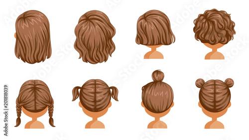 Little Girl Hair Rear View Set Hair Of A Little Girl Beautiful