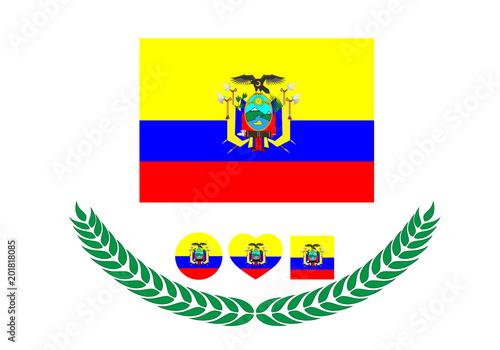Ecuador Flag Vector Illustration Ecuador Flag National Flag Of