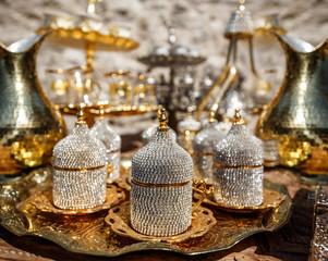 Turkish metal coffee cups