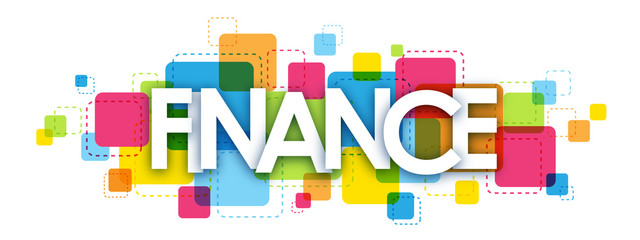 FINANCE colourful letters icon