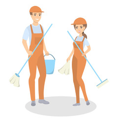 Cleaning service staff.