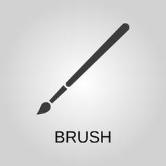 Brush icon. Brush symbol. Flat design. Stock - Vector illustration