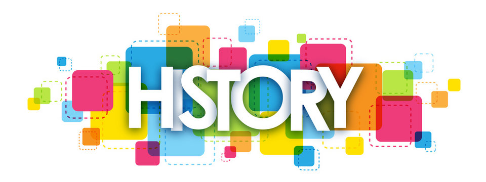 HISTORY COLOURFUL LETTERS ICON