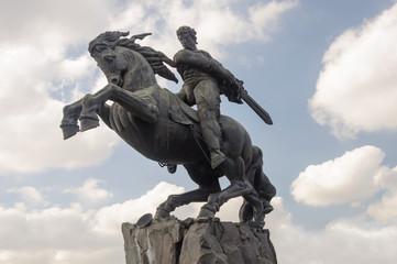 Monument to David Sasuntsi in Yerevan