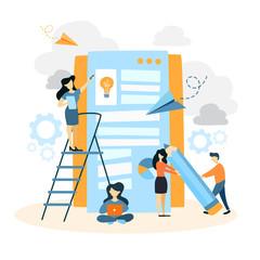 App building illustration.