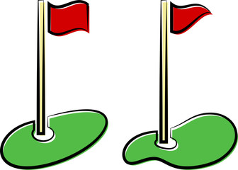 Golf Hole Flag Icon