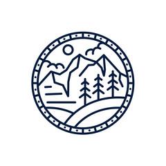 landscape logo concept - vector illustration template