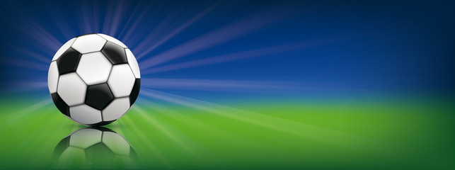 Football Blue Green Background Header