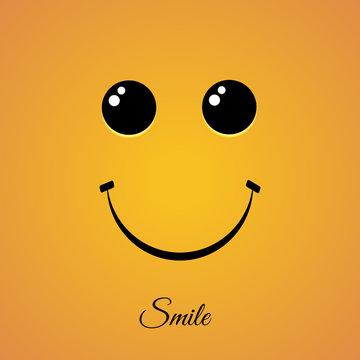 World Smile Day on yellow bg vector illustration eps 10