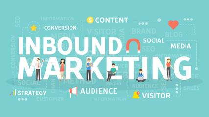 Inbound marketing concept.