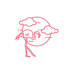 Flamingo outline logo