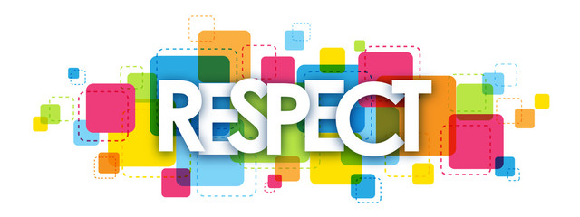 RESPECT colourful letters icon