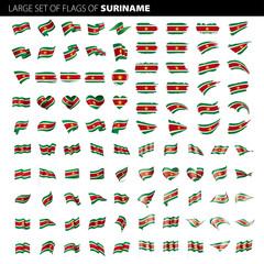 Suriname flag, vector illustration