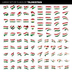 Tajikistan flag, vector illustration