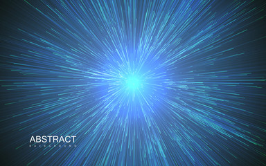 Shiny radial burst with linear particles