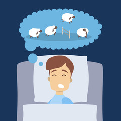 Man sleeping with sheep.