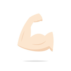 Muscle arm bicep icon vector