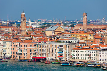 View of Venice, from above.