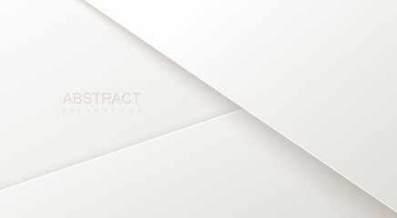 Abstract 3d background with white paper layers.