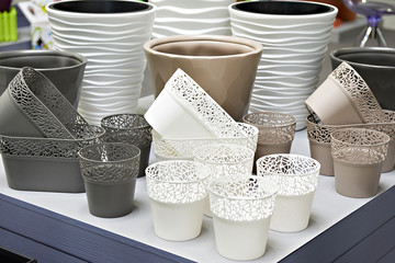 Plastic products in store of household goods