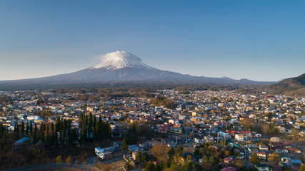 Fuji mountain and Cityscape