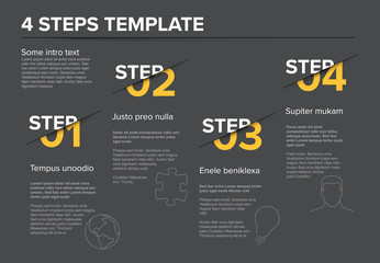Modern progress four steps template