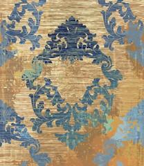Baroque pattern background Vector. Ornamented texture luxury design. Vintage Royal textile decors