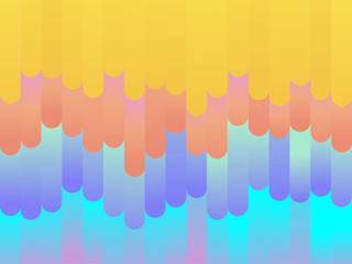 Colorful modern style abstract graphic background from various rounded shapes