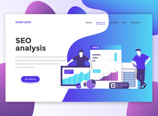Flat Modern design of wesite template - Seo