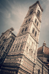 Wall Mural - Bell tower (campanile) of the Cathedral Santa Maria del Fiore (Duomo), in Florence, Tuscany, Italy