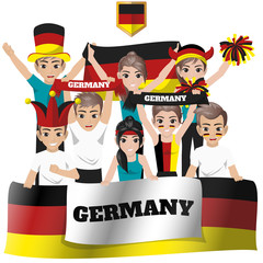 Set of Soccer / Football Supporter / Fans of Germany National Team