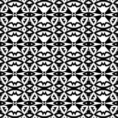 seamless decorative pattern in a black - white colors