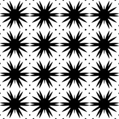 Seamless decorative pattern with a black silhouettes